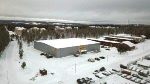 Flygfoto över site i Torvalla